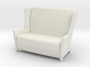 Aspen Wing Back Settee 1-24 in White Strong & Flexible