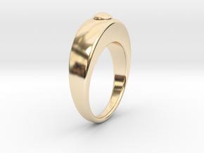 Ø16.51 Egg Ring/Ø0.650 inch Model B in 14K Yellow Gold