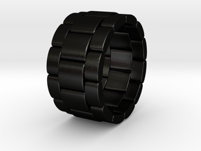 Tibaldo - Ring in Matte Black Steel: 9.5 / 60.25