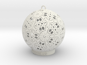 Kayam Ornament in White Natural Versatile Plastic