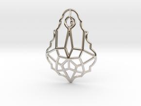 Baroque Stone Pendant in Platinum
