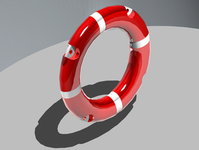 Life Belt 1/25 (1 pc.) in White Strong & Flexible Polished
