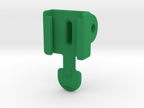 Planet Bike / GoPro Adapter Mount in Green Processed Versatile Plastic