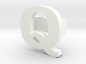 BandBit Q for Fitbit Flex in White Processed Versatile Plastic