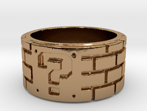 Mario Ring Size 7 in Polished Brass