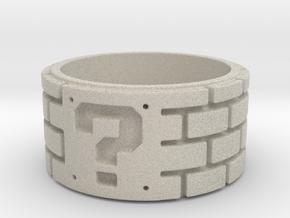 Mario Ring Size 7 in Natural Sandstone