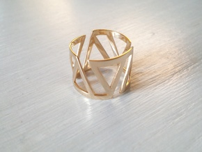 VOLTA Women Ring [Multiple Sizes] in 14k Gold Plated Brass