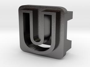 BandBit U2 for Fitbit Flex in Polished Nickel Steel