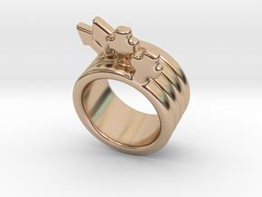 Love Forever Ring 18 - Italian Size 18 in 14k Rose Gold Plated Brass
