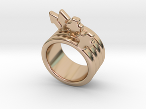 Love Forever Ring 22 - Italian Size 22 in 14k Rose Gold Plated Brass