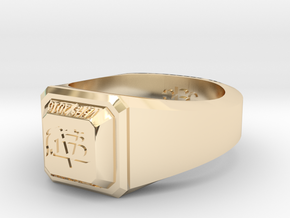 ClassRing7.5 in 14k Gold Plated Brass