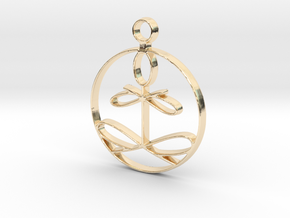 Yoga Glee Pendant in 14K Yellow Gold