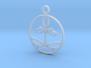 Yoga Glee Pendant in Smooth Fine Detail Plastic