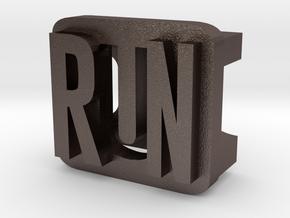 BandBit Run for Fitbit Flex in Polished Bronzed Silver Steel
