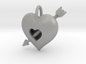 Heart pendant in Aluminum