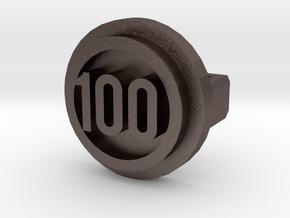 BandBit Barre 100 Class in Polished Bronzed Silver Steel