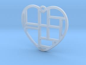 Mondrian Heart in Smooth Fine Detail Plastic