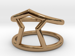 Urgency Ring in Polished Brass