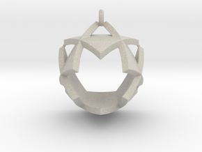 Triangles Pendant in Natural Sandstone