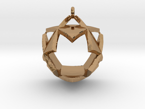 Triangles Pendant in Polished Brass