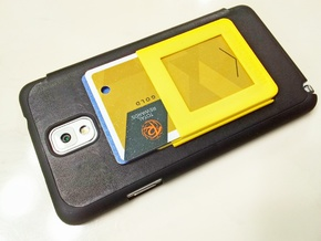 $10.99 Kickstand Credit Card Wallet. in Yellow Processed Versatile Plastic