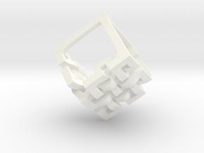 Eternal Knot Earrings in White Processed Versatile Plastic