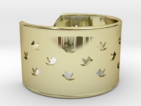 Bird Bracelet Small Ø58 Mm/Ø2.283 inch in 18k Gold Plated Brass