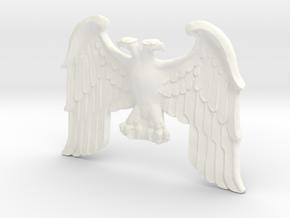Imperial Eagle Statue in White Processed Versatile Plastic