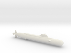 1/600 Yasen Class Submarine in White Natural Versatile Plastic