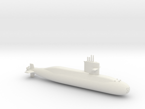 1/600 Zwaardvis / Hai Lung Class Submarine in White Natural Versatile Plastic