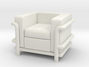 Le Corbusier chair in White Natural Versatile Plastic