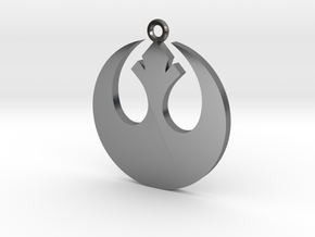 Star Wars Rebel Alliance Charm in Fine Detail Polished Silver