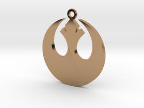 Star Wars Rebel Alliance Charm in Polished Brass