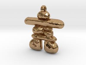 Inukshuk in Polished Brass