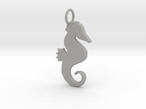 Seahorse pendant in Aluminum