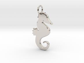 Seahorse pendant in Platinum