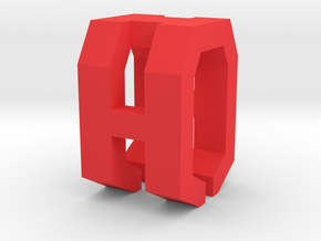 Cable Clip in Red Processed Versatile Plastic
