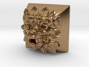 Quetzalcoatl (Cherry MX DSA) in Natural Brass