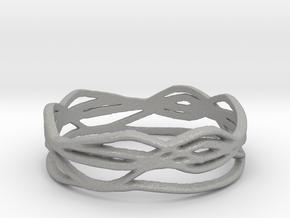 Ring Design 01 Ring Size 8 in Aluminum