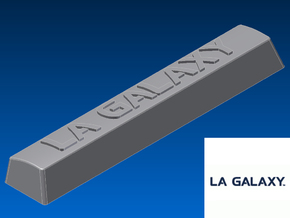 LA Galaxy Spacebar Keycap (5.5x) in White Natural Versatile Plastic