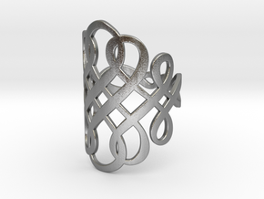 Celtic Knot Ring Size 8 in Raw Silver
