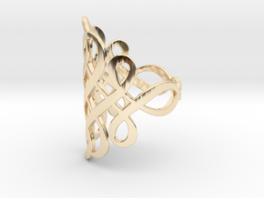 Celtic Knot Ring Size 9 in 14K Yellow Gold