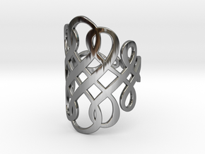 Celtic Knot Ring Size 10 in Fine Detail Polished Silver