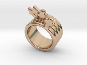 Love Forever Ring 25 - Italian Size 25 in 14k Rose Gold Plated Brass