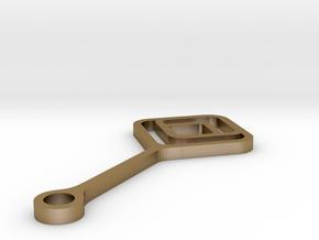 Bubble Break - Necklace -metal - D in Polished Gold Steel