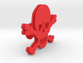 SkullHeadphone Holder in Red Processed Versatile Plastic
