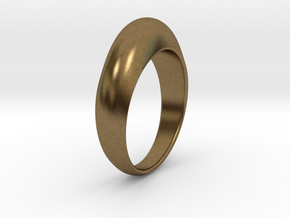 Ø0.674 inch Streamlined Ring Model B Ø17.13 mm in Natural Bronze