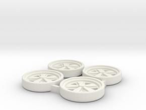 Tapacubos Porsche Fuchs in White Natural Versatile Plastic