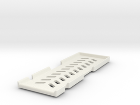 Zeb'210 quadcopter -  Battery Holder in White Natural Versatile Plastic