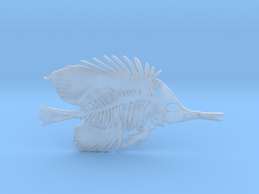 Butterfly Fish Skeleton Pendant in Smooth Fine Detail Plastic